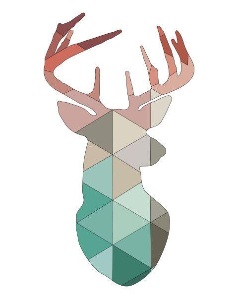 ciervo coloreado