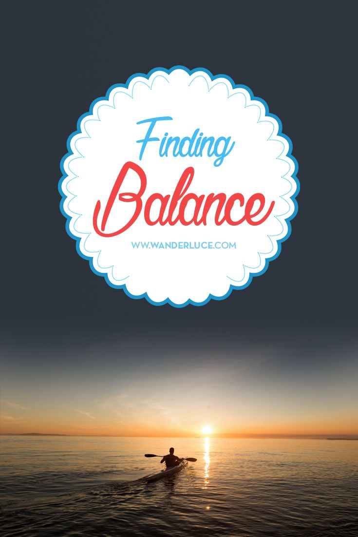 I have spend 32 years of my life being a wholly unbalanced individual. By which, I mean that I haven't even sought balance in my life. I haven't tried to see the calm as something I need, or the frenetic as a complimentary feeling either. Now, read this to see how I found balance - and how you can too.