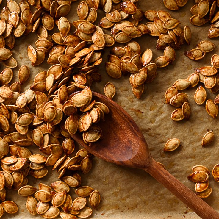 A quick and deliciously addicting recipe for sweet and salty Roasted Brown Sugar Pumpkin Seeds.