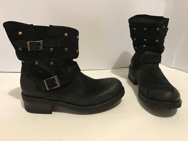 scarpe stivali tronchetto 38 colore nero camoscio xl italia