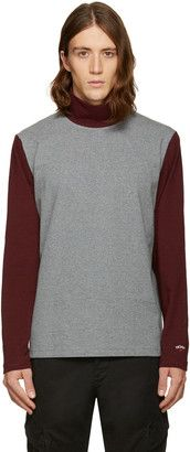 Shop Now - >  https://api.shopstyle.com/action/apiVisitRetailer?id=600319543&pid=uid6996-25233114-59 Noah NYC Grey Colorblock Turtleneck  ...