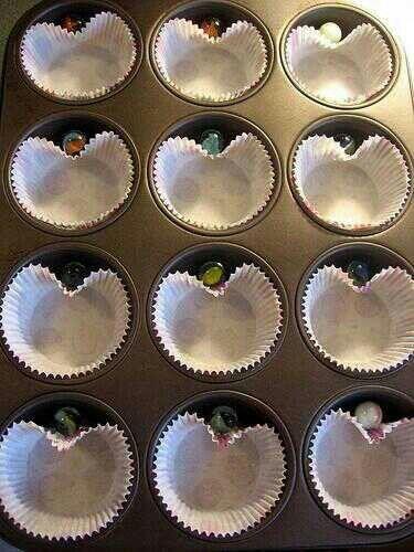 Hoe maak je hart vormige cupcakes - mbv knikker