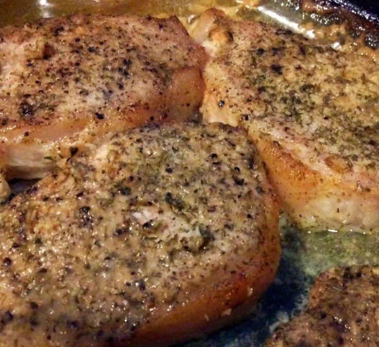 Garlic Parmesan Roasted Pork Chops