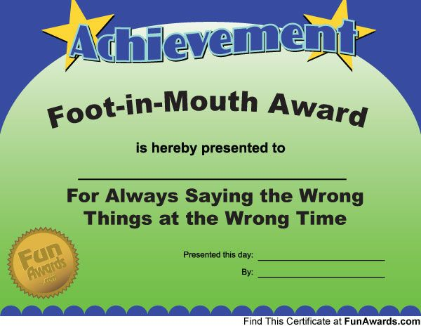 funny certificates for employees - Onwebioinnovate