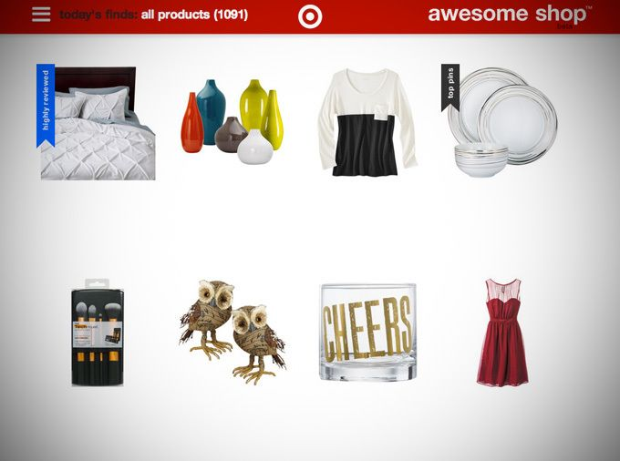 """Target Experiments With A Pinterest-Powered Online Storefront, Dubbed The """"Awesome Shop""""   TechCrunch"""
