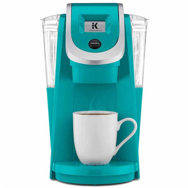 Keurig K250 2.0 Compact Brewer, Blue - Coffee + Tea > Coffee Makers ($150) ❤ liked on Polyvore featuring home, kitchen & dining, small appliances, single serving coffee maker, keurig coffee machine, tea brewer, single serve brewers and coffee brewing systems