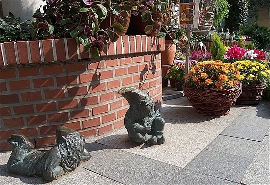 Gnomes love the sun, lazing around and being friendly to tourists in Wroclaw
