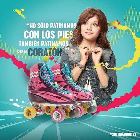 No sólo patinas con los pies tandien patinas con tu corazon
