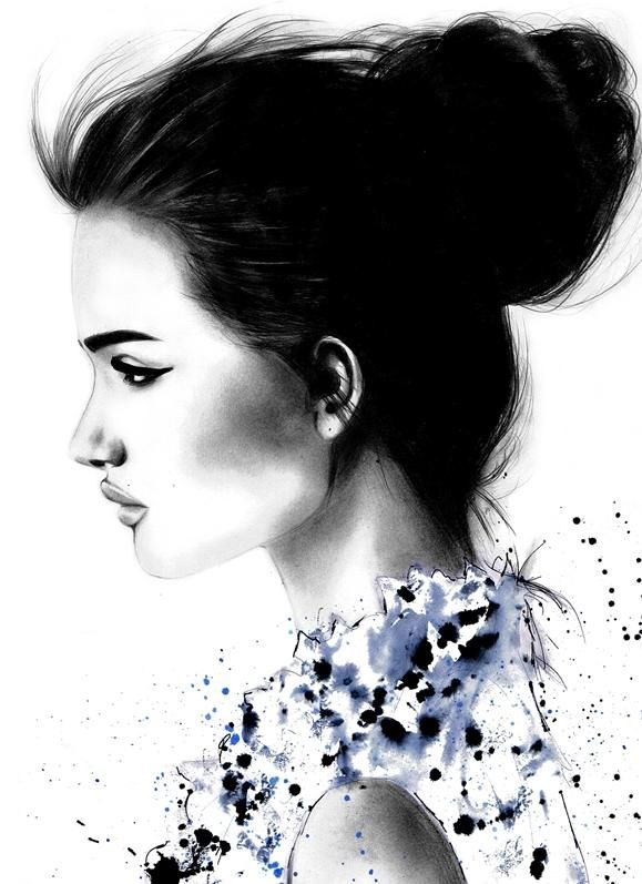 fashion illustration by Kornelia Debosz