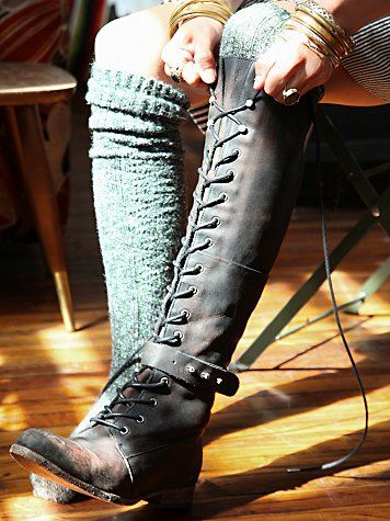 I've been dreaming of knee high lace up boots for year!!       Free People Landmark Lace Boot | Shoes