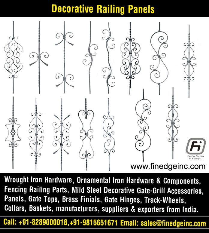 Decorative Wrought Iron And Ornamental Iron Components Fencing Hardware Railing Parts Gate Grill Parts W Wrought Iron Hardware Iron Hardware Gate Decoration