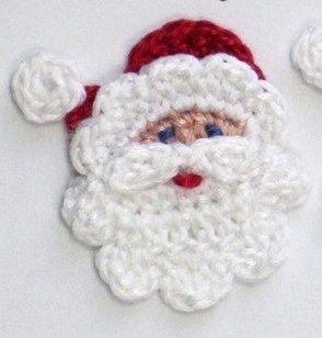 Santa Crochet Applique IDEA