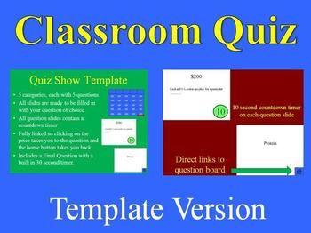 quiz show template