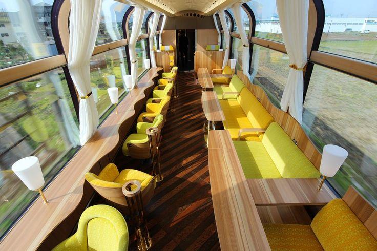 Il nuovo treno panoramico progettato da Ichibansen / panoramic train Japon