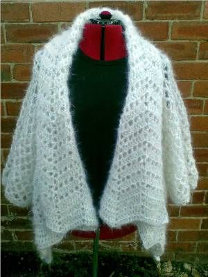 Heidis Crochet Scrapbook Haw Frost Shawl Cardigan