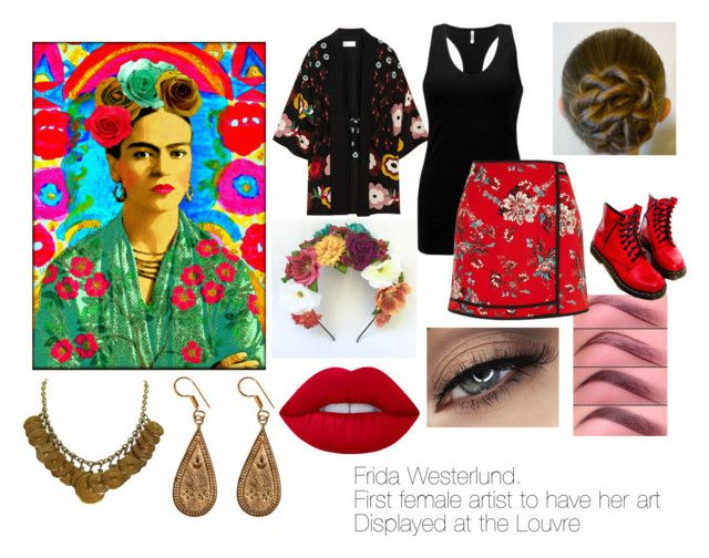 """""""Frida Inspired"""" by kixkeen on Polyvore featuring art"""