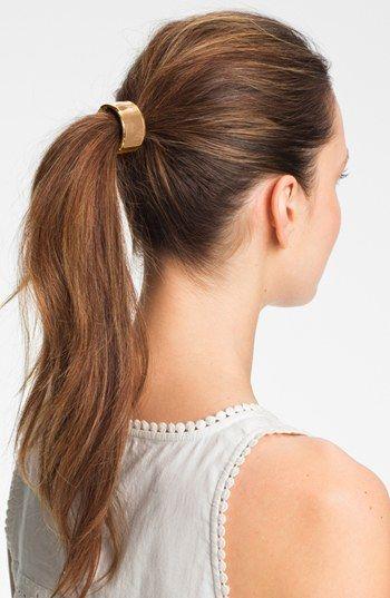 { enamel cuff ponytail holder }