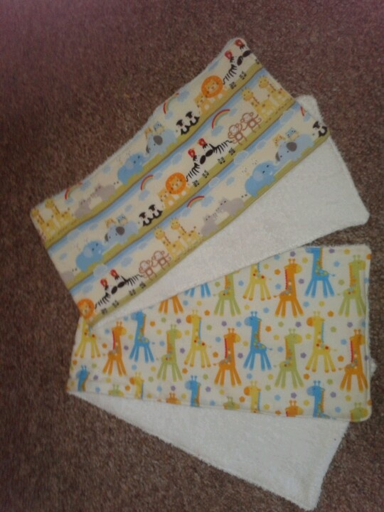 Baby burpies, great way to save your and the babies clothing:)