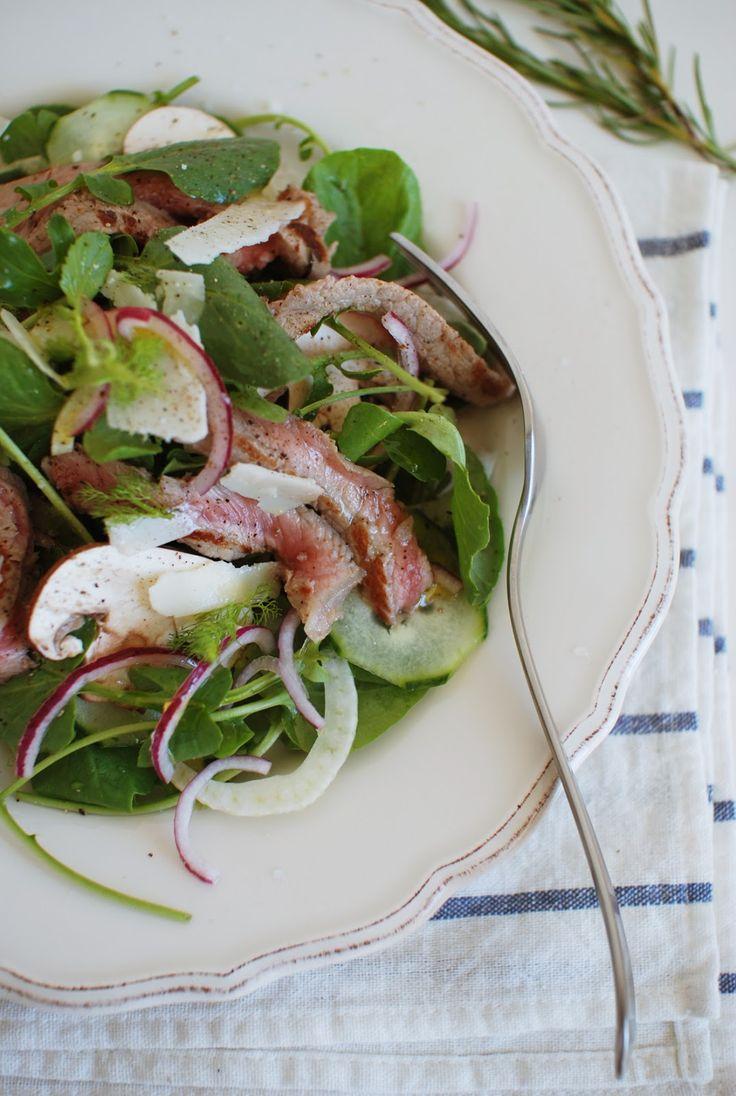 In the mood for food: Salada de bife grelhado \\ Grilled steak salad