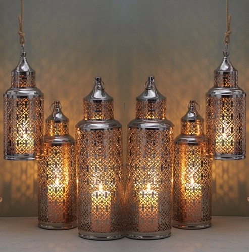 Set Of 6 Moroccan Glass Lanterns Home Decor Ideas Gifts Pinterest Glass Lanterns