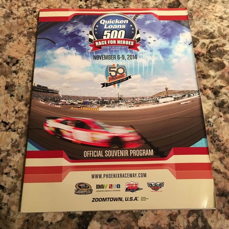 Phoenix International Raceway Quicken Loans 500 November 6-9, 2014 Program