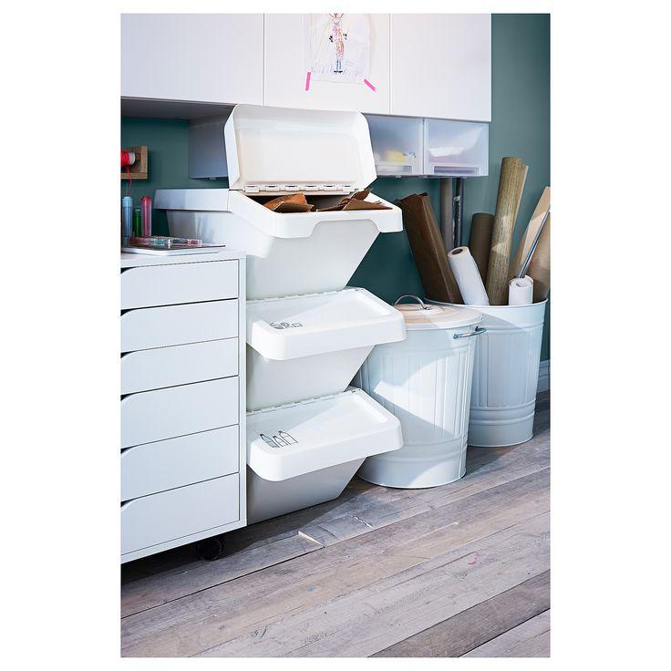 Ikea Sortera Waste Sorting Bin With Lid White Products