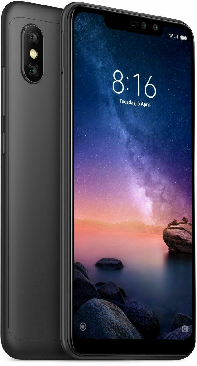 Xiaomi Redmi Note 6 Pro Dual Sim 64gb Black 6 26 4gb Ram 4g Lte Unlocked Unlocked Cell Phones Xiaomi Newest Cell Phones