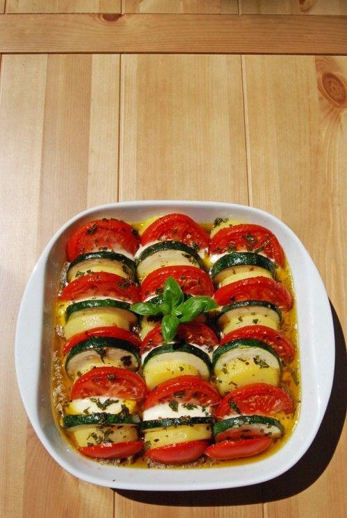 Mediterrán sült zöldségek