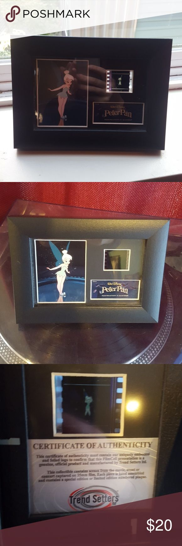 Tinkerbell film negative frame Perfect condition tinkerbell frame with authentic negative from movie. Certificate of authenticity on back of frame Disney Accessories