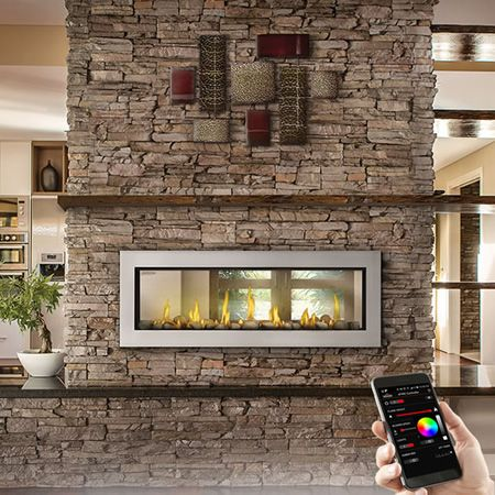 Napoleon LV50N2 Vector 50 See-Through Gas Fireplace | WoodlandDirect.com: Indoor Fireplaces: Gas #LearnShopEnjoy