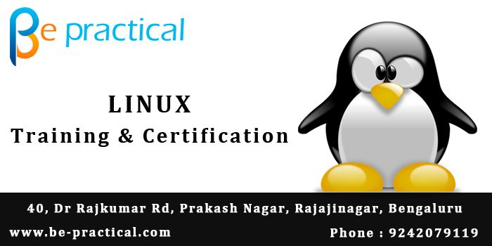 Be practical is one of the best ‪Linux training institute in ‪Bangalore with 100% placement support.Linux Server Administration training in Bangalore provided by Linux certified experts and real-time working professionals with 10+ years of experience in real time ‪‎Linux projects. For more details visit : www.be-practical.com Or call +91924207911