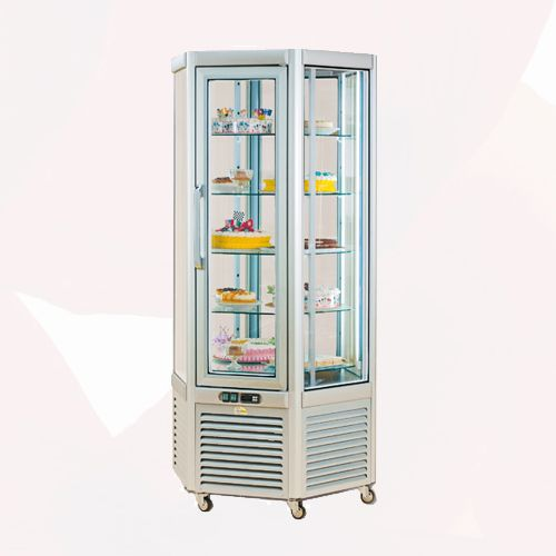 Hexa Showcase Rotative Shelves | Freezers Rental | Rent4Expo.eu