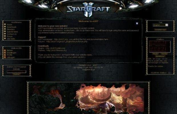Starcraft Game Guild E107 Theme To Download #starcraft #e107 #game