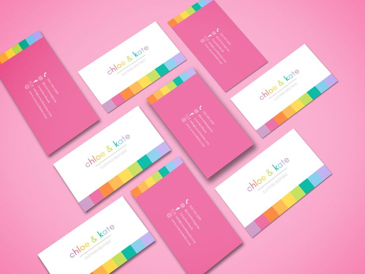 Bright happy business card canva template easy to edit