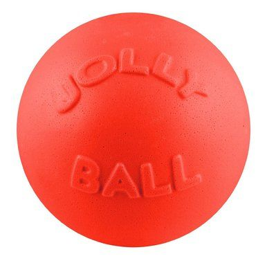 "Jolly Pets Bounce-N-Play Ball 8"""" Dog Floating Durable Exercise Toy USA Orange"