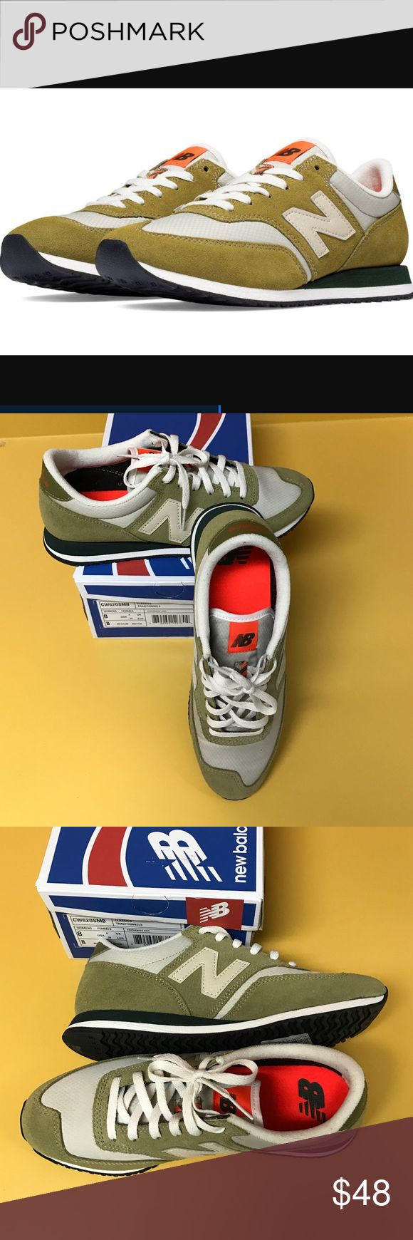 New Balance olive classic sneakers new in box Brand new in box New Balance olive colored classic sneakers. Women's size 8 medium. New Balance Shoes Sneakers