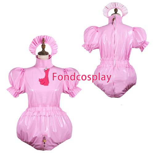 Sissy maid pvc Romper lockable Uniform cosplay costume Tailor-made[G3743] #Sissy maids http://www.ku-ki-shop.com/shop/sissy-maids/sissy-maid-pvc-romper-lockable-uniform-cosplay-costume-tailor-made-g3743/