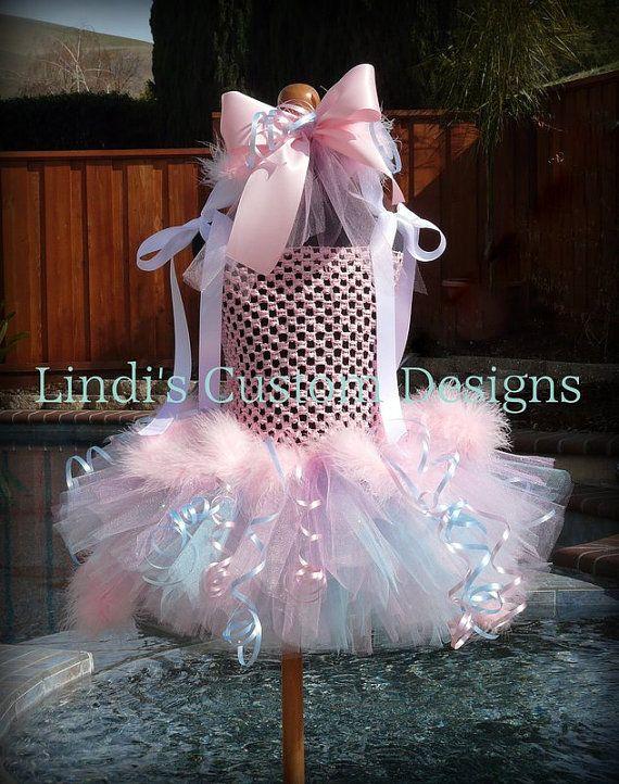 Princess Cotton Candy Tutu Dress Costume