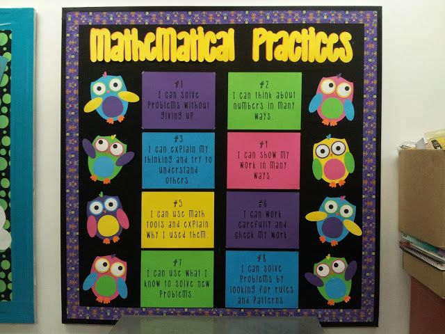 Innovative Classroom Displays ~ Best mathematical practices images on pinterest math