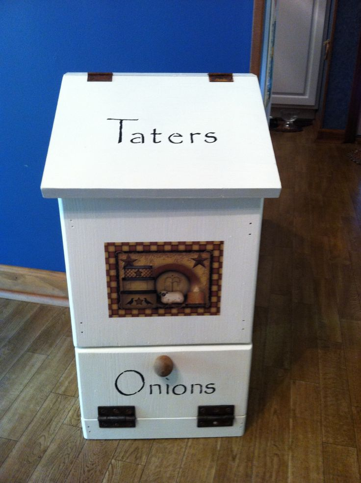 Tater & Onion Box | Kitchens | Pinterest | Onions, Boxes and Dr. who
