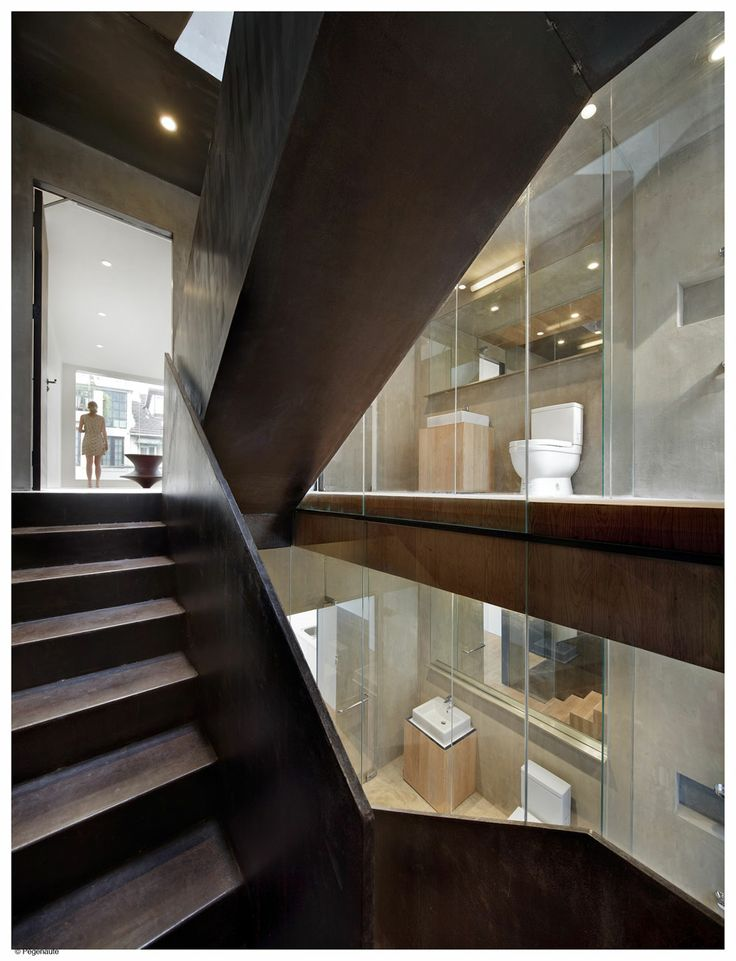 Chinese Architecture Studio Neri Hu Sliced Away The Rear Wall Replaced It With Glass For This Renovation Of A Townhouse In Shanghai