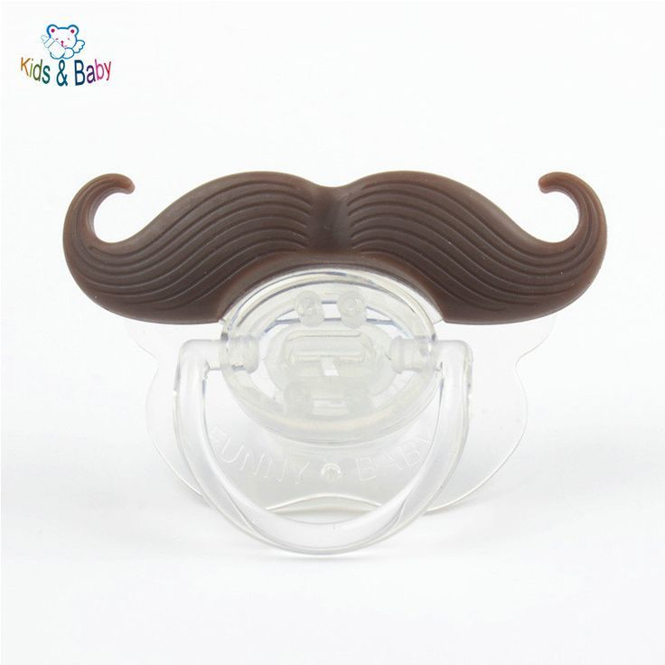 Mustache funny baby pacifiers