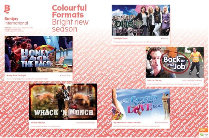Banijay International's MIPTV Print Ad for the ONE NIGHT STAND format