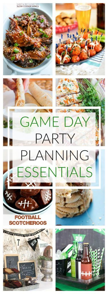 GAME DAY PARTY PLANNING ESSENTIALS: FOOD, PRINTABLES & DECORATIONS
