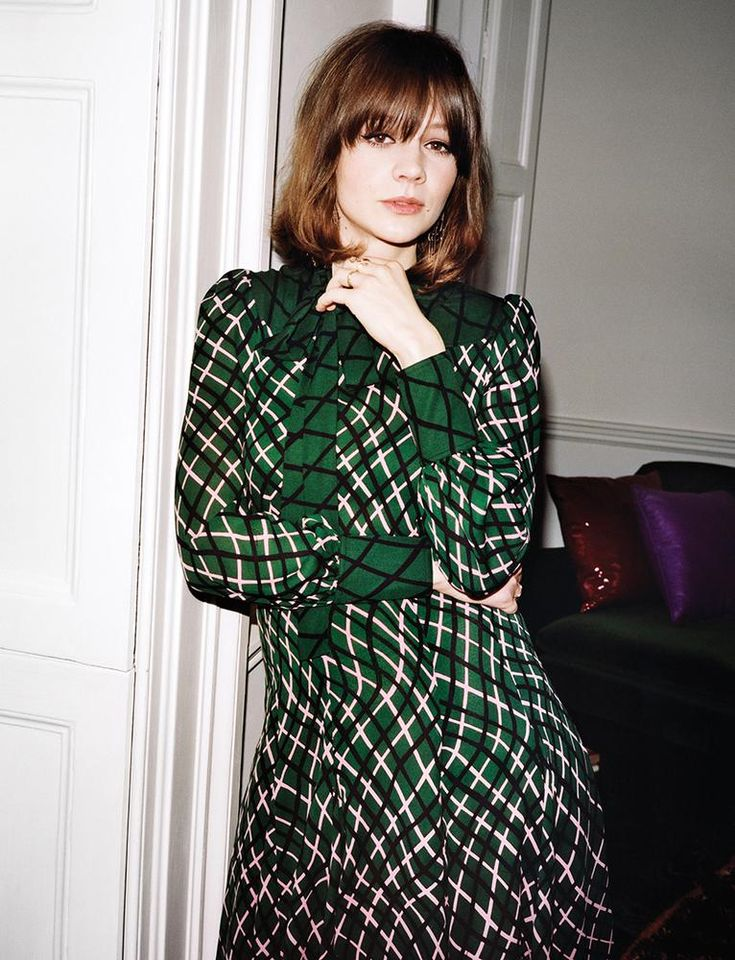 Carey Mulligan by Angelo Pennetta for WSJ May 2015 - GUCCI Pre Fall 2015 #lob with fringe