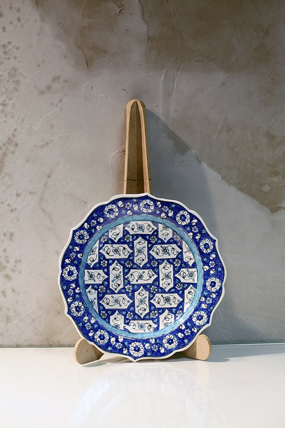 25cm Handmade traditional Anatolian ceramic by IstanbulPottery, $42.00