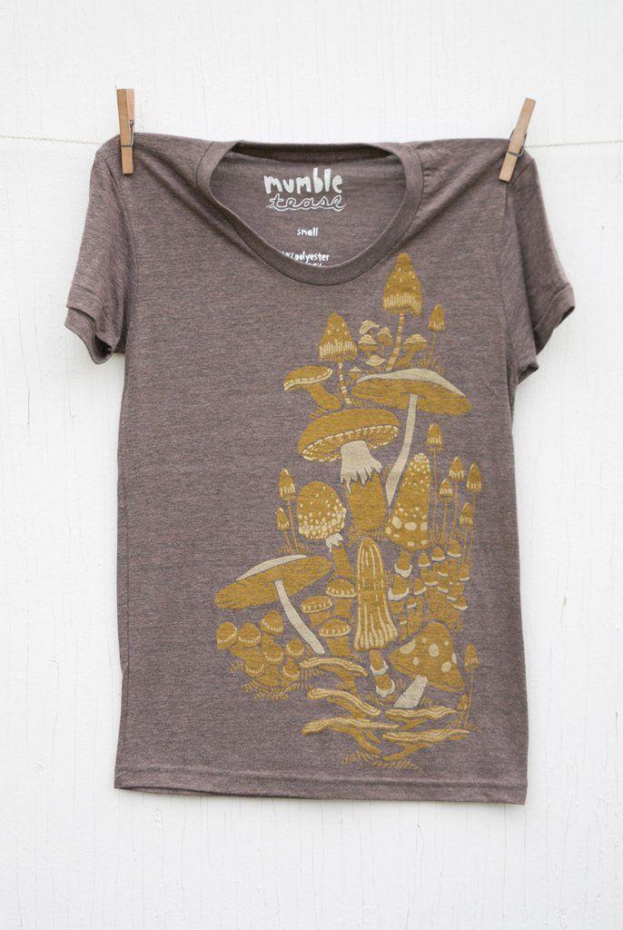 Mushrooms - Coffee Women's T-shirt