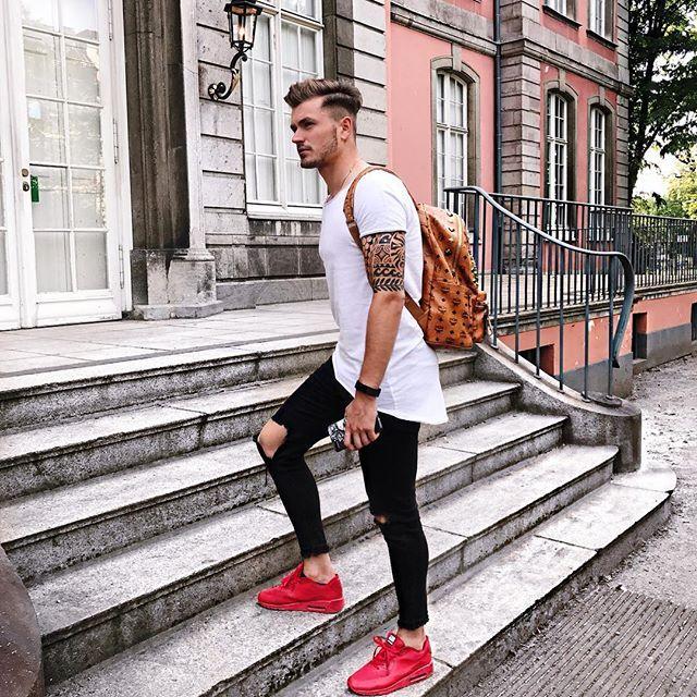 Düsseldorf ♂ #men #tattoo #fashion #streetstyle #düsseldorf #ootd · Red  Shoes ...