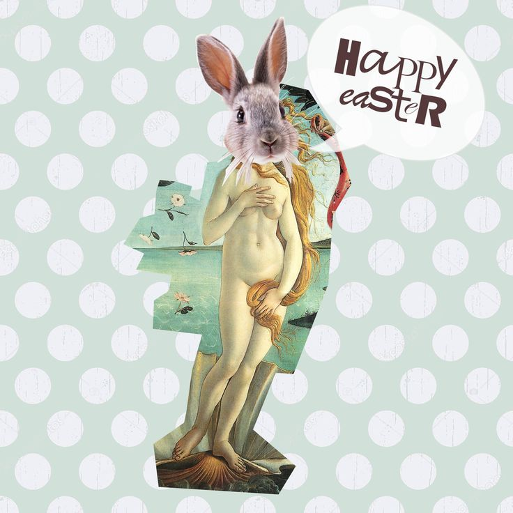 Happy Easter baby!  I love to do trash collage eheh!