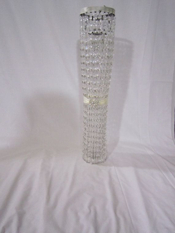 Glam Wedding Centerpiece  Tall Crystal by RocheleauDesigns on Etsy, $200.00